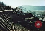 Image of blown railroad track Germany, 1945, second 32 stock footage video 65675063557