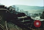 Image of blown railroad track Germany, 1945, second 33 stock footage video 65675063557