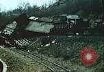 Image of blown railroad track Germany, 1945, second 46 stock footage video 65675063557