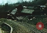 Image of blown railroad track Germany, 1945, second 48 stock footage video 65675063557