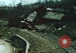 Image of blown railroad track Germany, 1945, second 49 stock footage video 65675063557