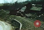 Image of blown railroad track Germany, 1945, second 50 stock footage video 65675063557