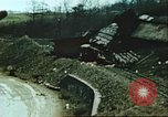 Image of blown railroad track Germany, 1945, second 51 stock footage video 65675063557