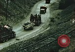 Image of blown railroad track Germany, 1945, second 54 stock footage video 65675063557