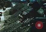 Image of blown railroad track Germany, 1945, second 58 stock footage video 65675063557