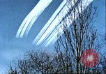 Image of P-47 Thunderbolt contrails over Germany Germany, 1945, second 43 stock footage video 65675063561