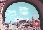 Image of bomb damaged buildings Germany, 1945, second 52 stock footage video 65675063596