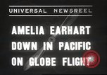 Image of Amelia Earhart Putnam South Pacific Ocean, 1937, second 1 stock footage video 65675063620