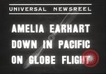 Image of Amelia Earhart Putnam South Pacific Ocean, 1937, second 2 stock footage video 65675063620