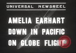 Image of Amelia Earhart Putnam South Pacific Ocean, 1937, second 5 stock footage video 65675063620