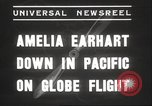 Image of Amelia Earhart Putnam South Pacific Ocean, 1937, second 6 stock footage video 65675063620