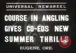 Image of angling course Eugene Oregon USA, 1937, second 5 stock footage video 65675063624