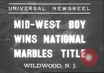 Image of National Marble Championship Wildwood New Jersey USA, 1937, second 1 stock footage video 65675063626