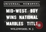Image of National Marble Championship Wildwood New Jersey USA, 1937, second 3 stock footage video 65675063626