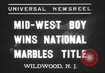 Image of National Marble Championship Wildwood New Jersey USA, 1937, second 5 stock footage video 65675063626