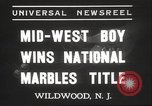 Image of National Marble Championship Wildwood New Jersey USA, 1937, second 6 stock footage video 65675063626