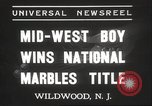 Image of National Marble Championship Wildwood New Jersey USA, 1937, second 7 stock footage video 65675063626