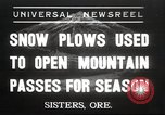 Image of Federal and State Highway Crew Sisters Oregon USA, 1937, second 1 stock footage video 65675063627