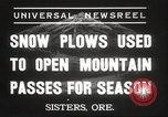 Image of Federal and State Highway Crew Sisters Oregon USA, 1937, second 3 stock footage video 65675063627