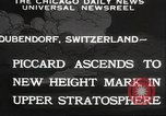 Image of Jacques Piccard Dubendorf Switzerland, 1932, second 4 stock footage video 65675063636