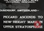 Image of Jacques Piccard Dubendorf Switzerland, 1932, second 8 stock footage video 65675063636
