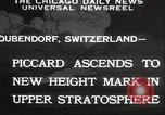 Image of Jacques Piccard Dubendorf Switzerland, 1932, second 9 stock footage video 65675063636