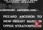 Image of Jacques Piccard Dubendorf Switzerland, 1932, second 10 stock footage video 65675063636