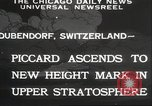 Image of Jacques Piccard Dubendorf Switzerland, 1932, second 12 stock footage video 65675063636