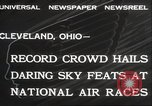 Image of National Air Race Cleveland Ohio USA, 1932, second 4 stock footage video 65675063638