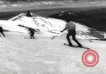 Image of skiing in spring Argentina, 1960, second 29 stock footage video 65675063694