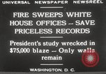 Image of fire at White House Washington DC USA, 1929, second 3 stock footage video 65675063697