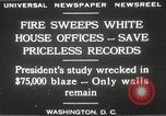 Image of fire at White House Washington DC USA, 1929, second 6 stock footage video 65675063697