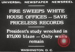 Image of fire at White House Washington DC USA, 1929, second 9 stock footage video 65675063697