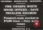 Image of fire at White House Washington DC USA, 1929, second 10 stock footage video 65675063697