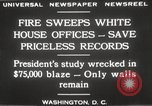 Image of fire at White House Washington DC USA, 1929, second 11 stock footage video 65675063697