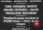 Image of fire at White House Washington DC USA, 1929, second 13 stock footage video 65675063697