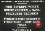 Image of fire at White House Washington DC USA, 1929, second 14 stock footage video 65675063697