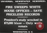 Image of fire at White House Washington DC USA, 1929, second 15 stock footage video 65675063697