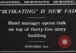 Image of Skating rink on rooftop Chicago Illinois USA, 1929, second 9 stock footage video 65675063701