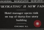 Image of Skating rink on rooftop Chicago Illinois USA, 1929, second 11 stock footage video 65675063701
