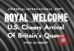 Image of Britain's Queen Elizabeth United States USA, 1954, second 15 stock footage video 65675063705