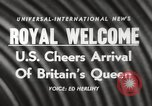 Image of Britain's Queen Elizabeth United States USA, 1954, second 17 stock footage video 65675063705