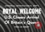 Image of Britain's Queen Elizabeth United States USA, 1954, second 18 stock footage video 65675063705