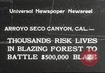 Image of forest fire California United States USA, 1934, second 1 stock footage video 65675063715