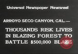 Image of forest fire California United States USA, 1934, second 2 stock footage video 65675063715