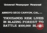 Image of forest fire California United States USA, 1934, second 5 stock footage video 65675063715
