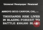 Image of forest fire California United States USA, 1934, second 7 stock footage video 65675063715