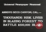 Image of forest fire California United States USA, 1934, second 8 stock footage video 65675063715