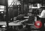 Image of Forging saw blades at Disston Saw works factory Philadelphia Pennsvlvania USA, 1920, second 12 stock footage video 65675063729