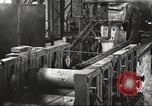 Image of Forging saw blades at Disston Saw works factory Philadelphia Pennsvlvania USA, 1920, second 60 stock footage video 65675063729